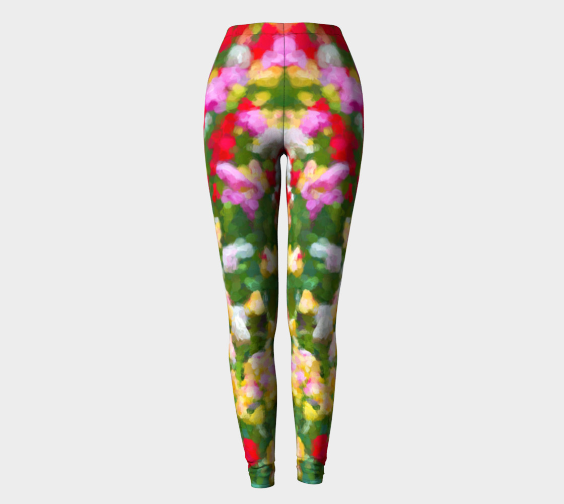 Painted Tulips Leggings preview #2