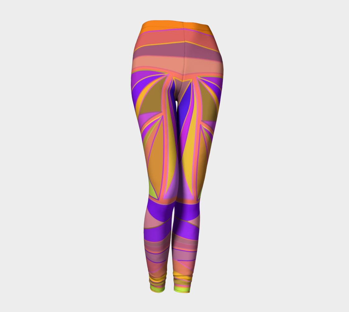 Aperçu de Geometric Abstract Vintage Pinks, Purple #1