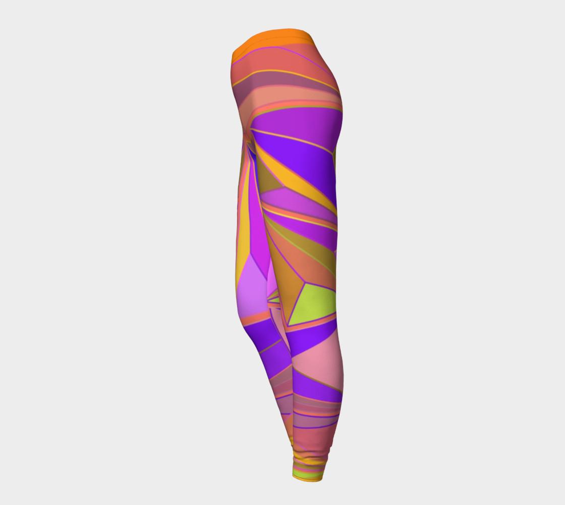 Aperçu de Geometric Abstract Vintage Pinks, Purple #3