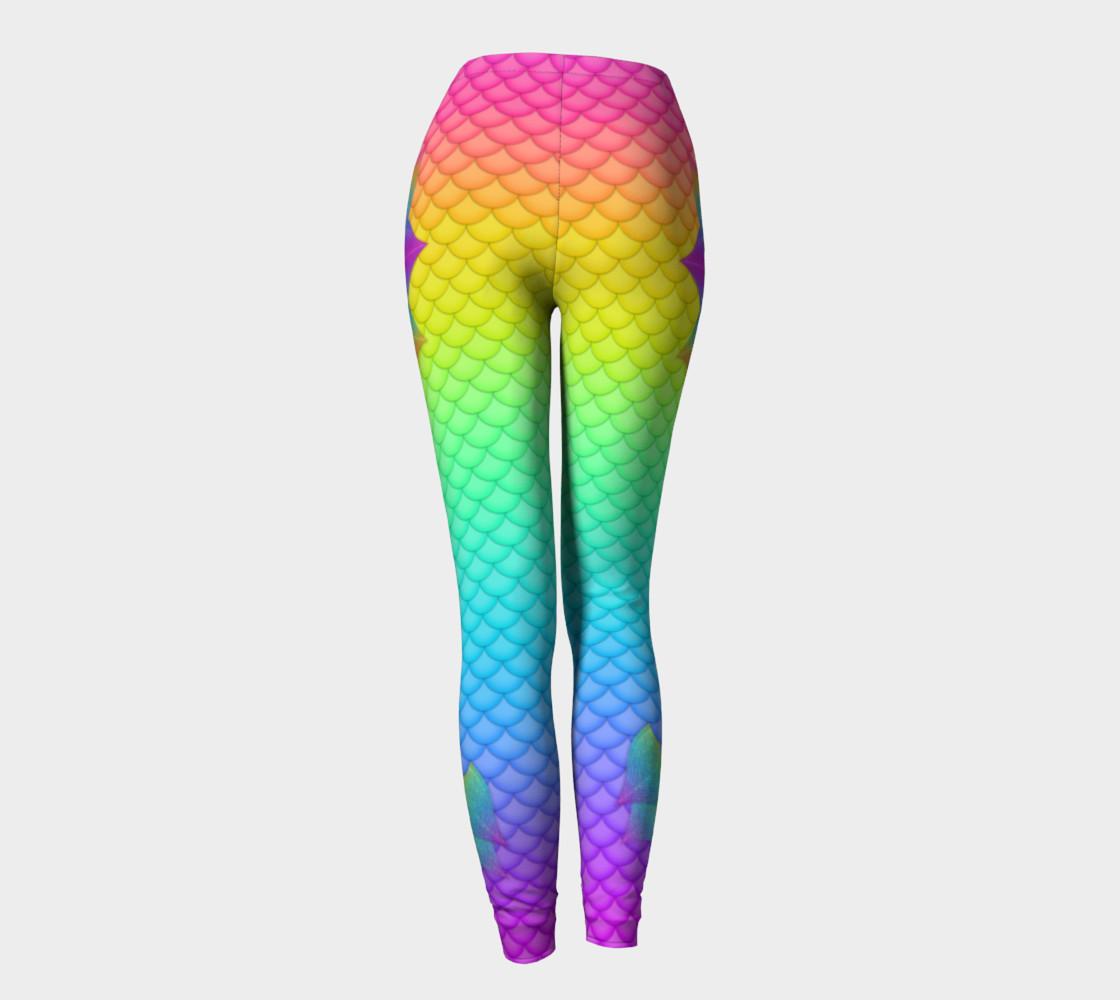 Neon Mermaid Leggings preview #4