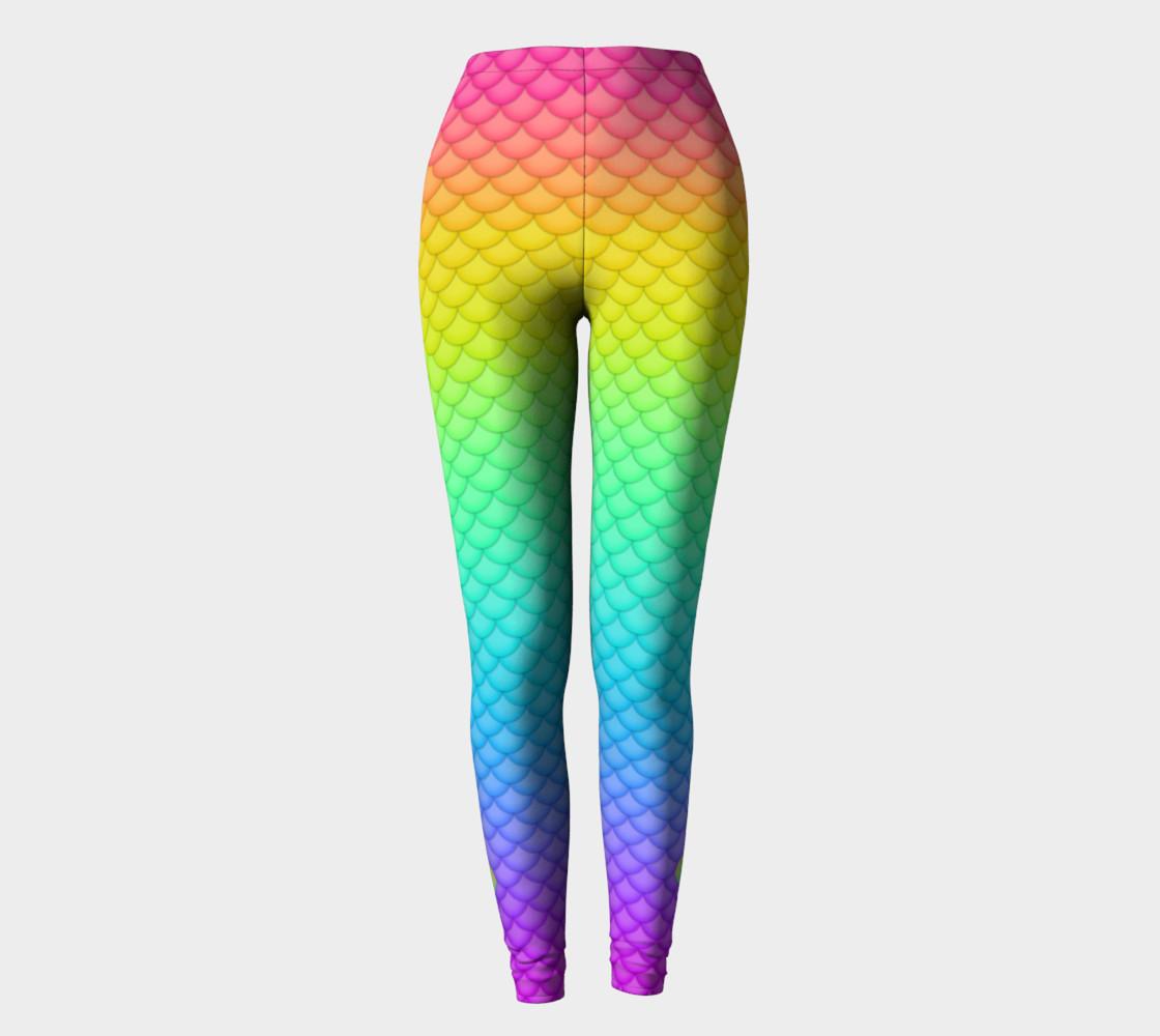 Neon Mermaid Leggings preview #2