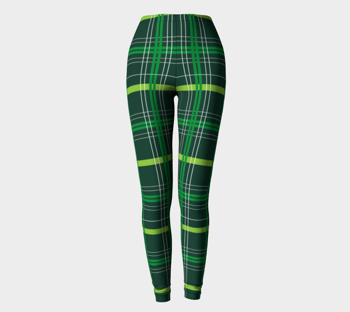 St. Patrick's Day Plaid - Dark Green Miniature #3