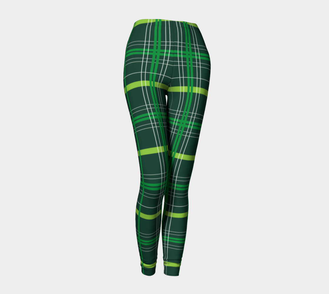 St. Patrick's Day Plaid - Dark Green Miniature #2