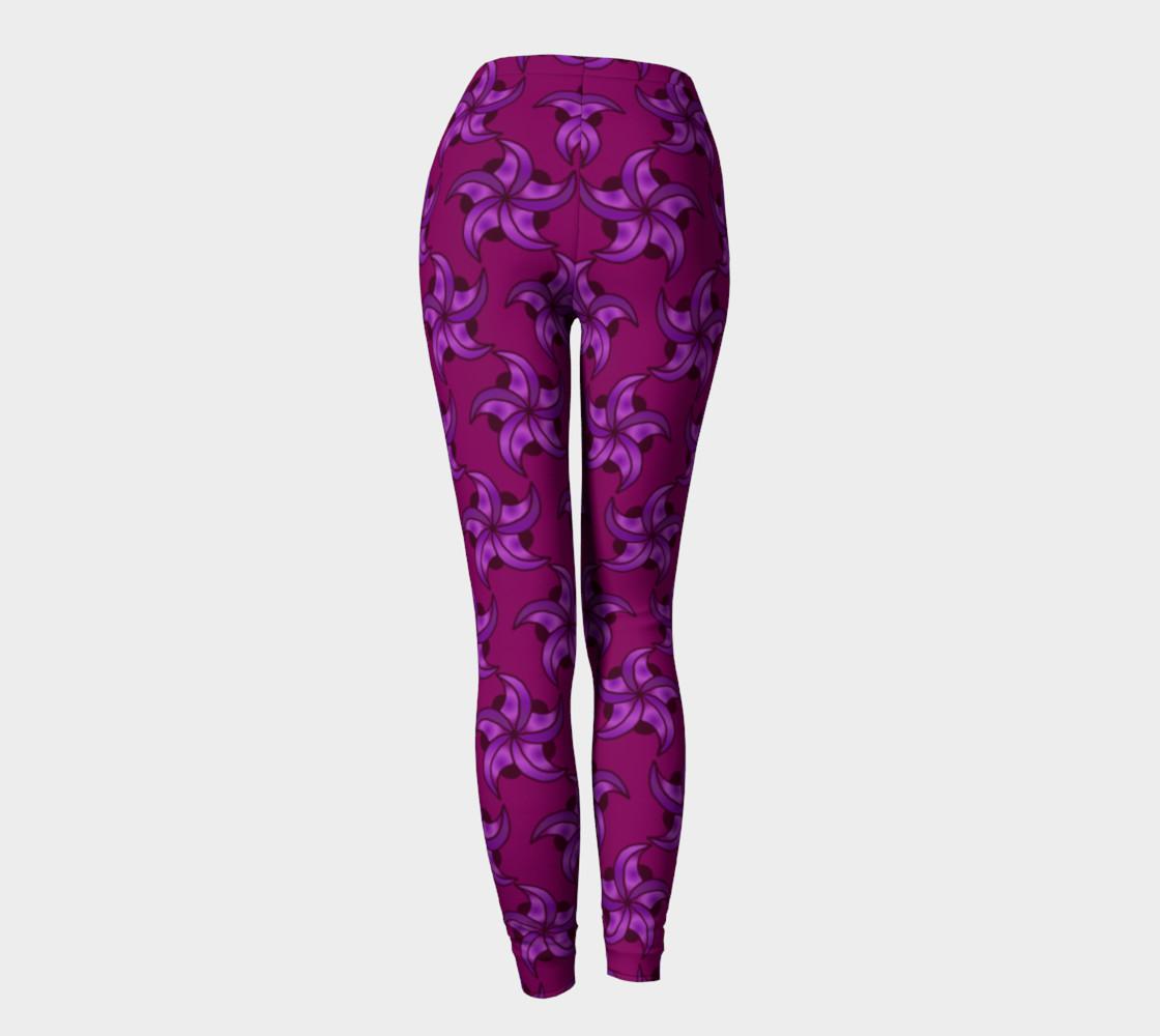 Purple Star Leggings preview #4