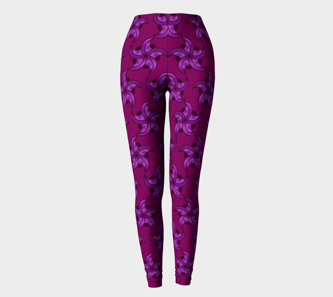 Purple Star Leggings preview #2
