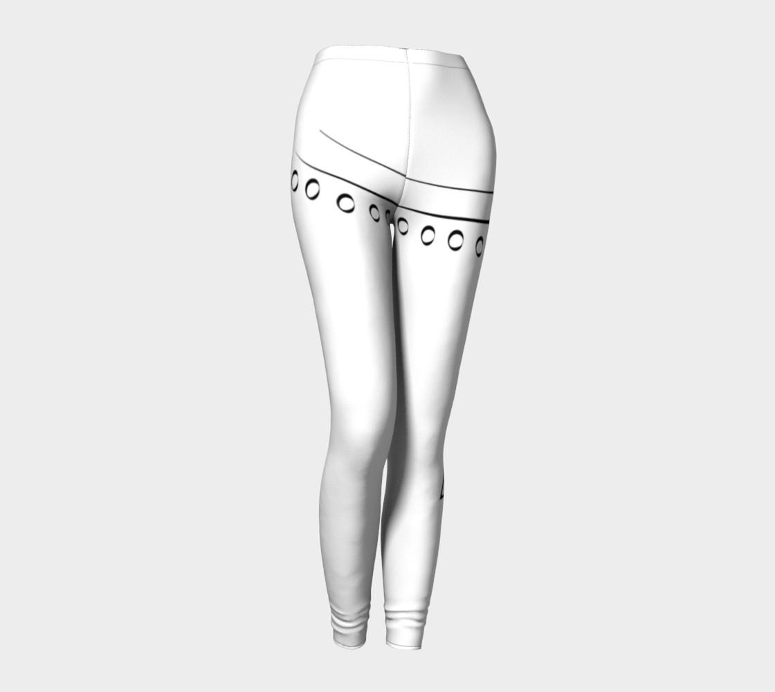 Black and white Line design leggings preview #1