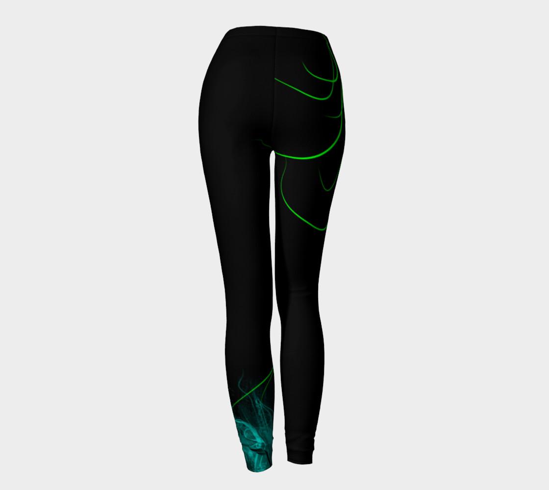 Flower black leggings preview #4