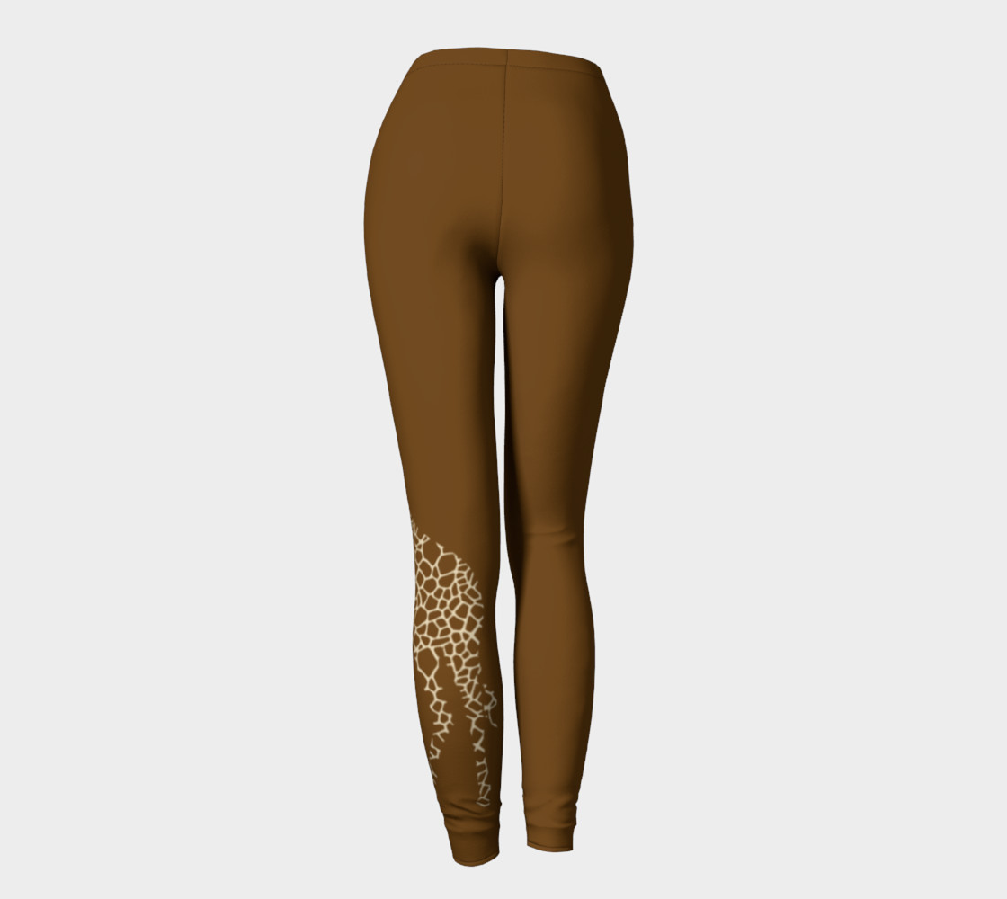 Giraffe brown leggings preview #4