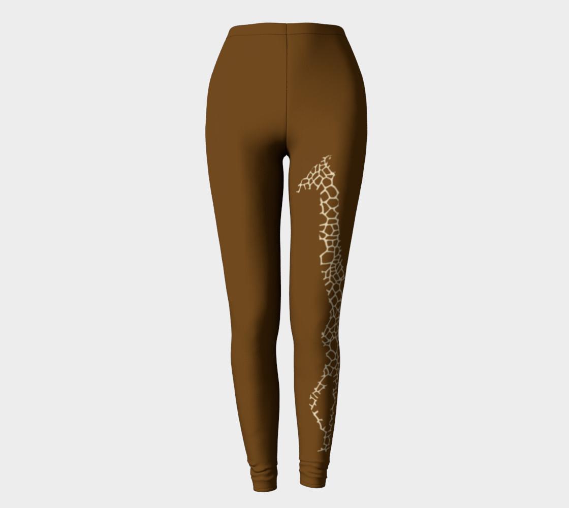 Giraffe brown leggings preview #2