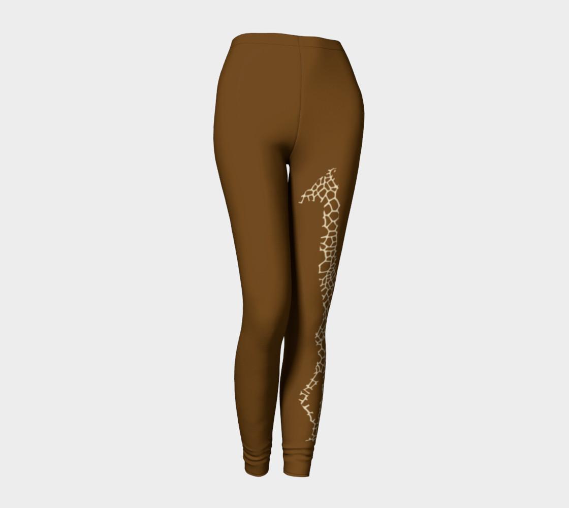 Giraffe brown leggings preview #1