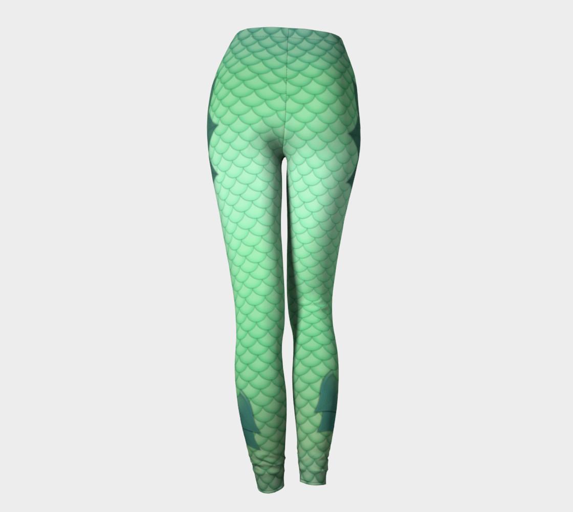 Green Mermaid Leggings preview #4