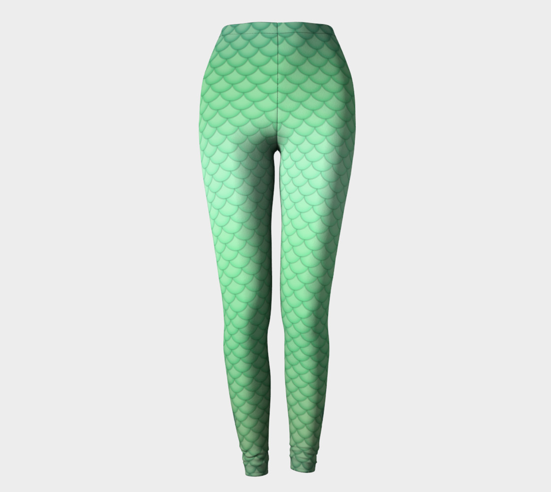 Green Mermaid Leggings preview #2