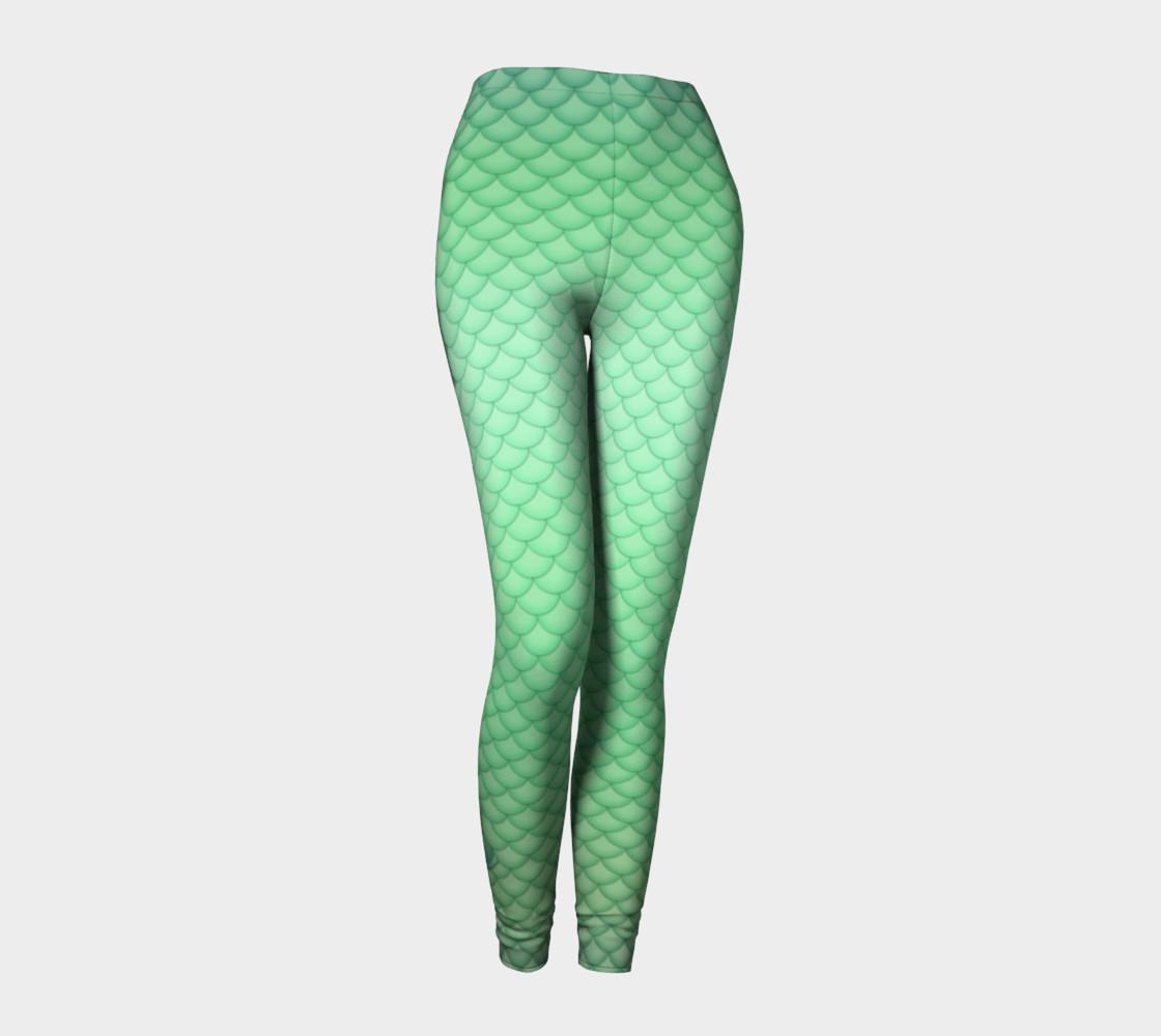 Green Mermaid Leggings preview #1