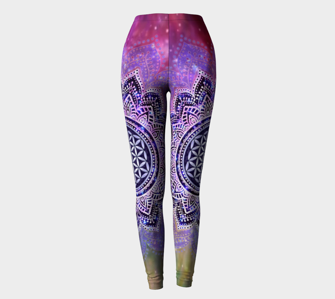 Aperçu de Flower Of Life - Lotus Of India - Galaxy Colored leggings #2