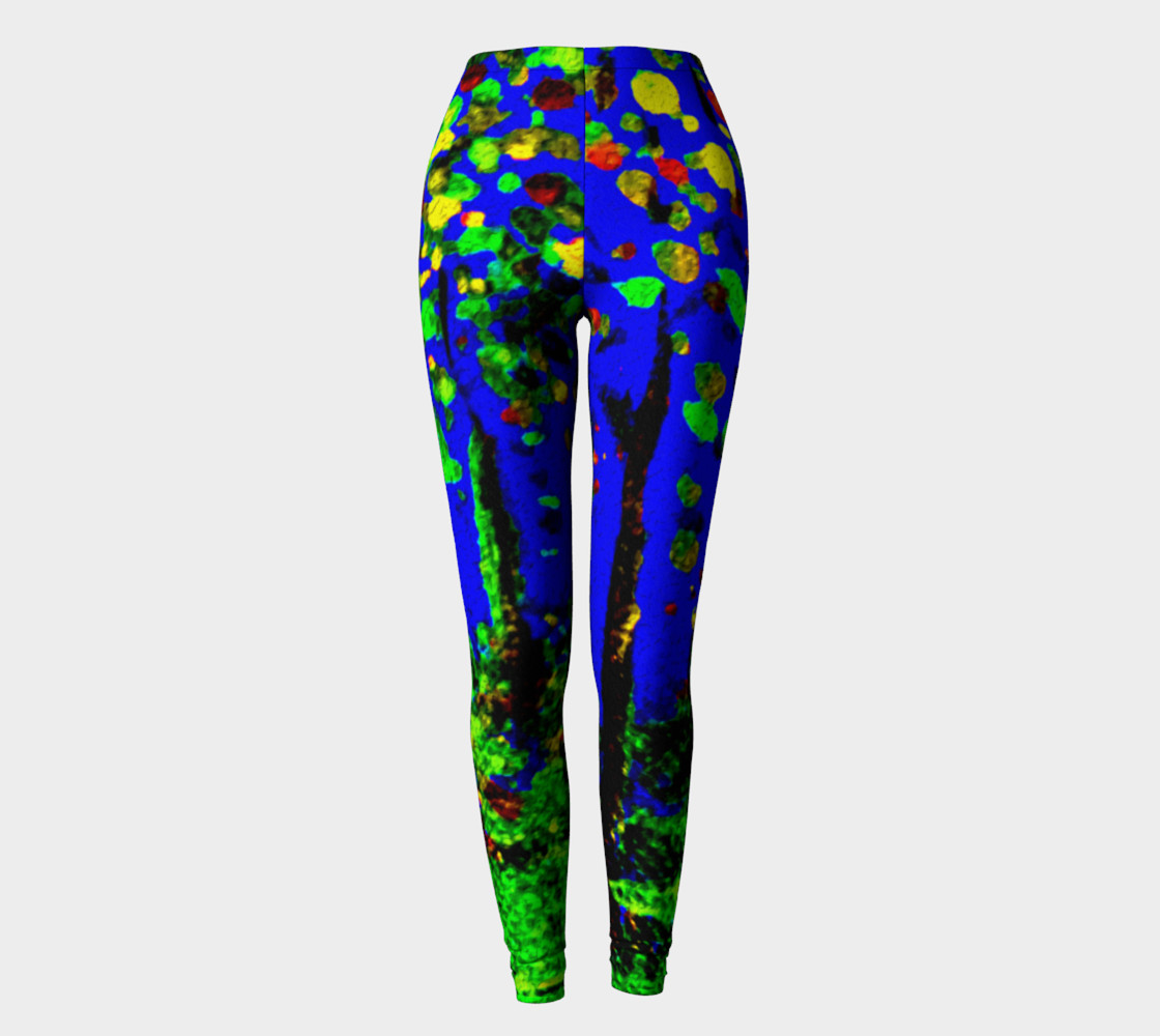 Aperçu de Magic Trees at Midnight Leggings #2