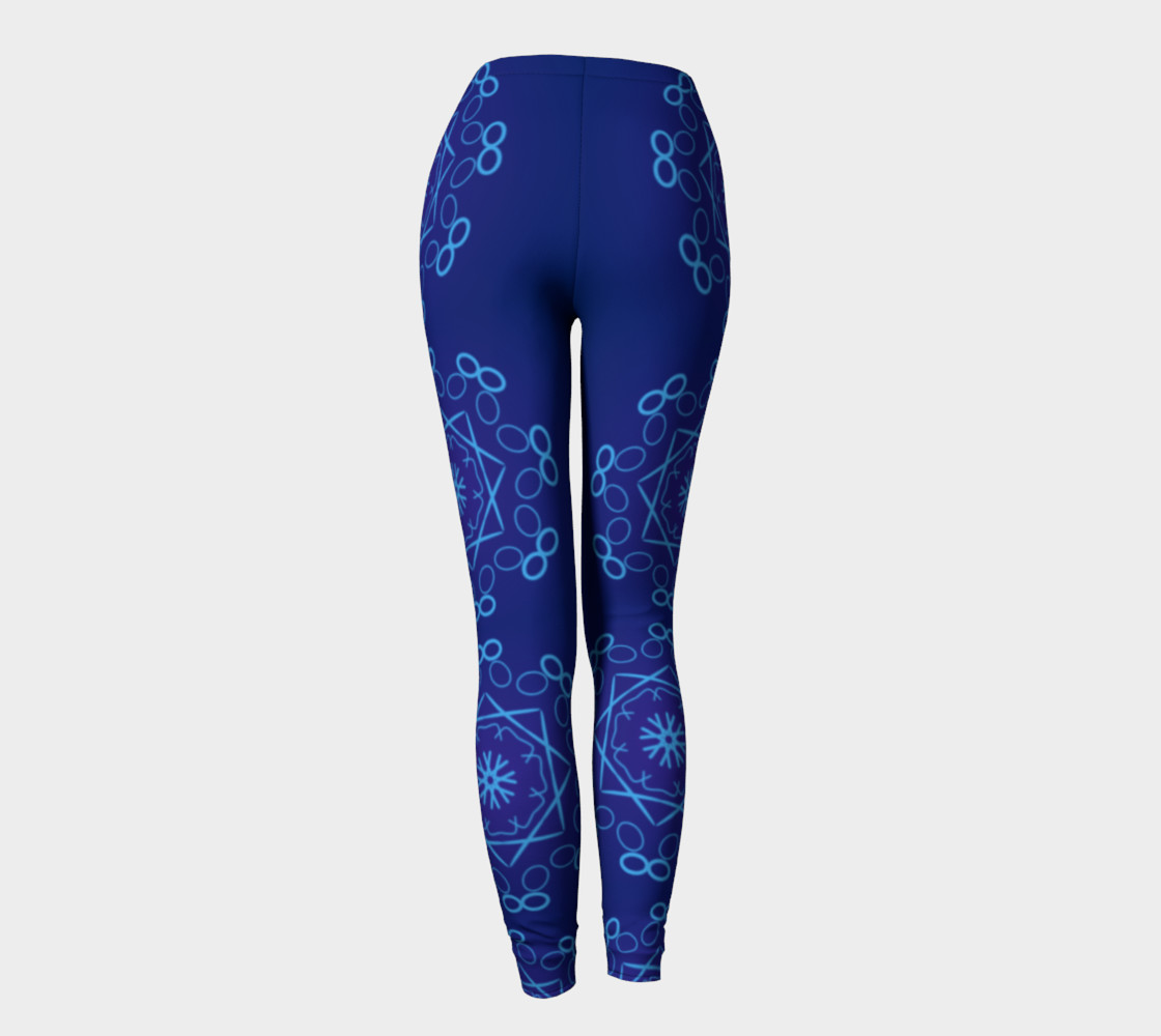 Shades of Blue Leggings preview #4