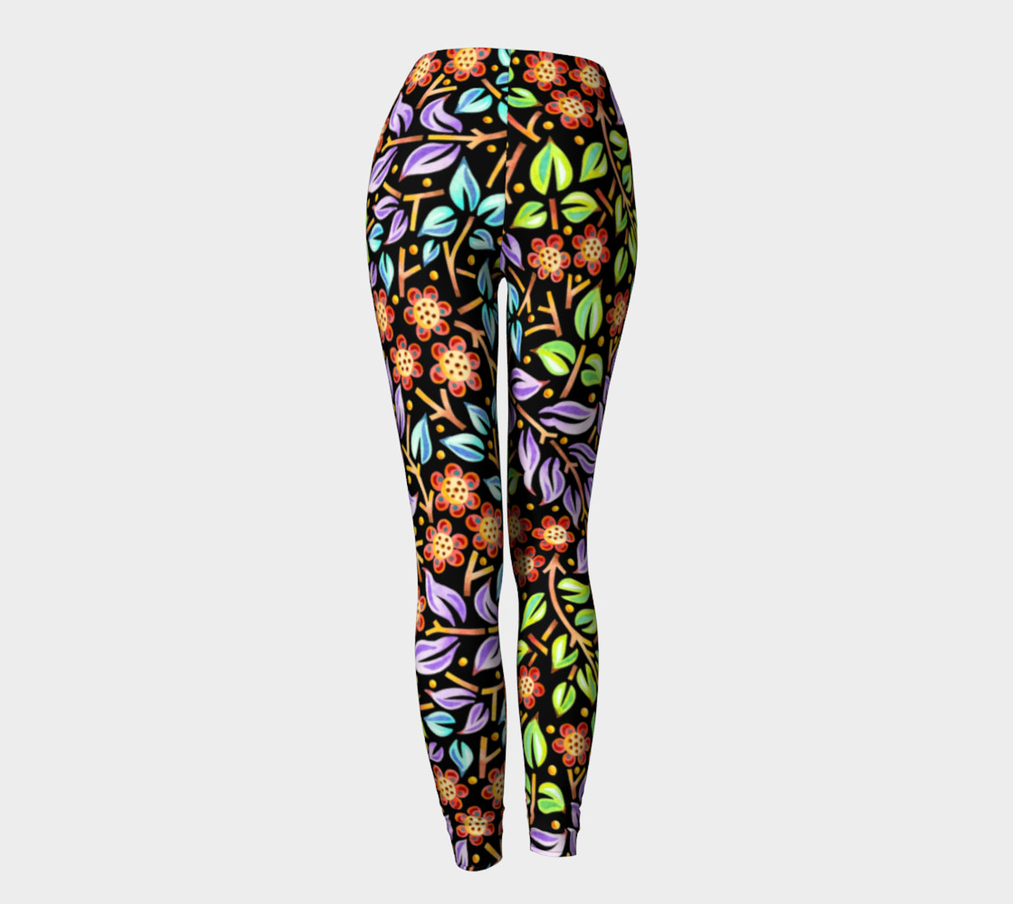 Filigree Floral Ankle Leggings preview #4