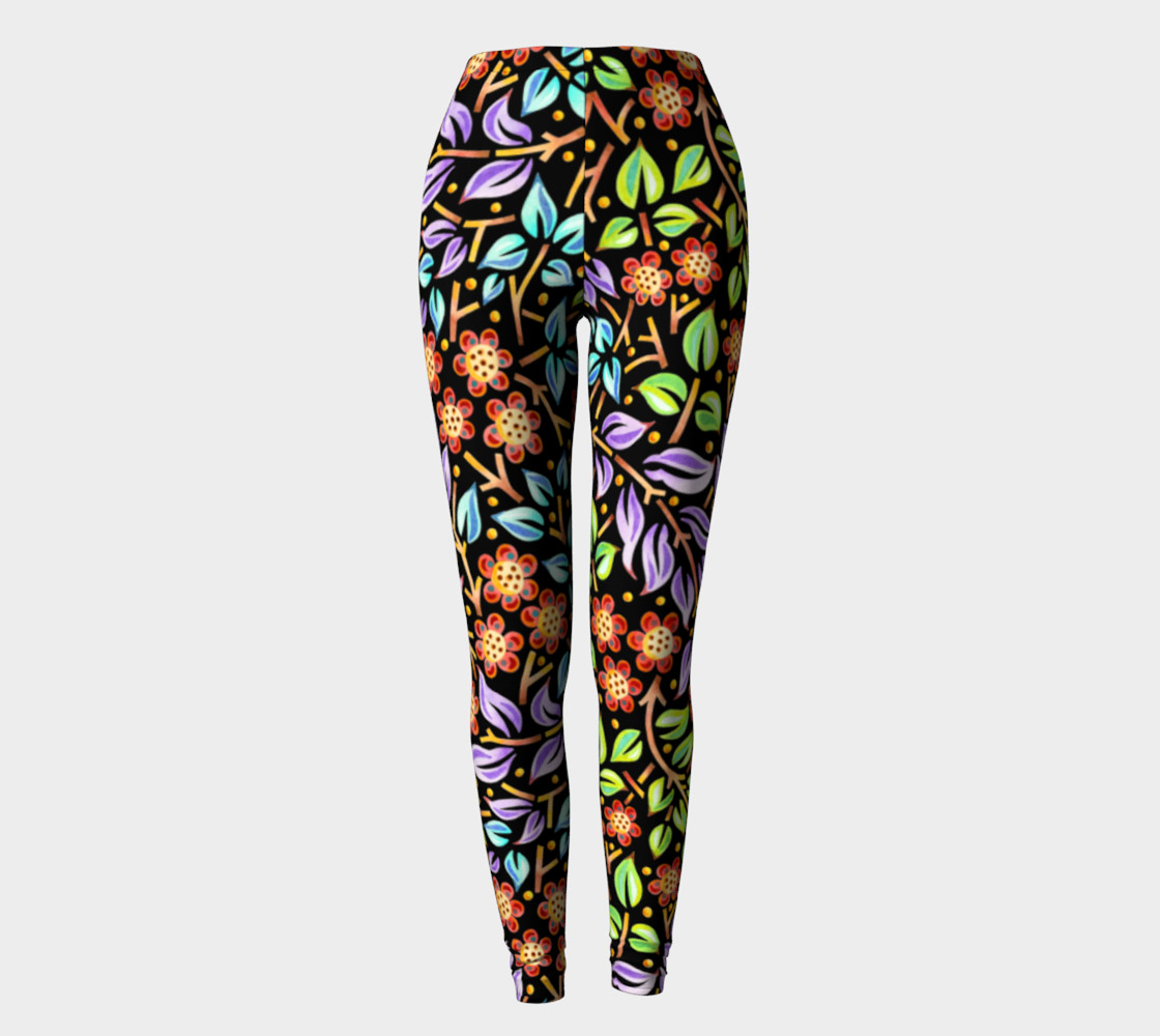 Filigree Floral Ankle Leggings preview #2