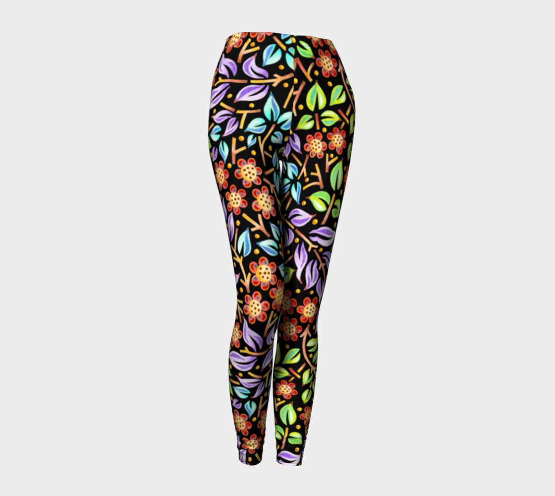 Filigree Floral Ankle Leggings preview #1