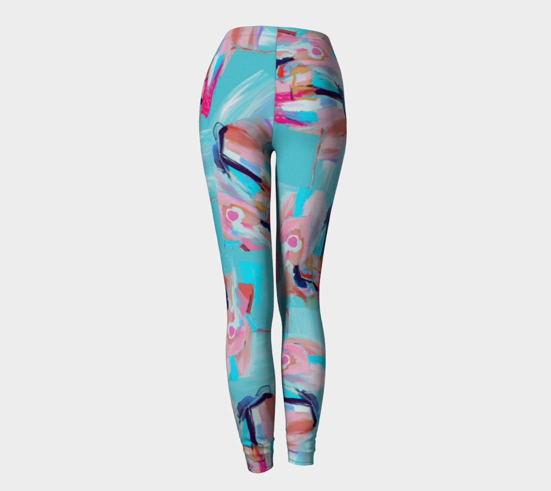 Blue Abstract Leggings Miniature #5