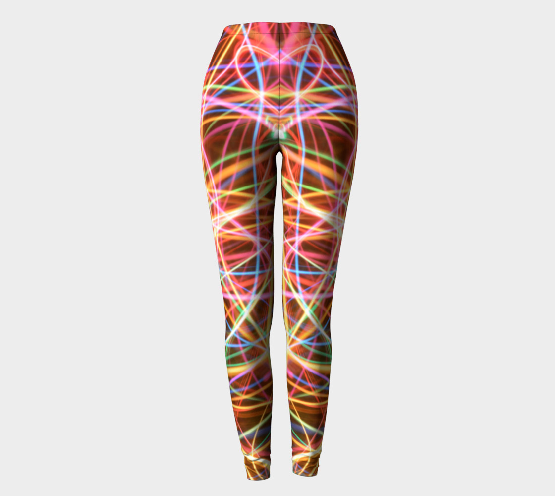 Christmas Light Trails Leggings preview #2