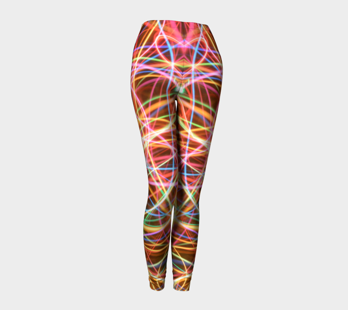 Christmas Light Trails Leggings preview #1