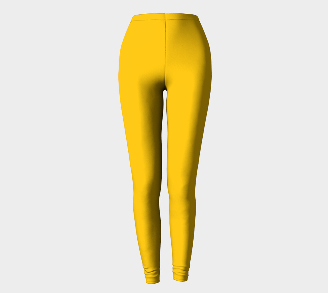 School Bus Yellow Leggings preview #2