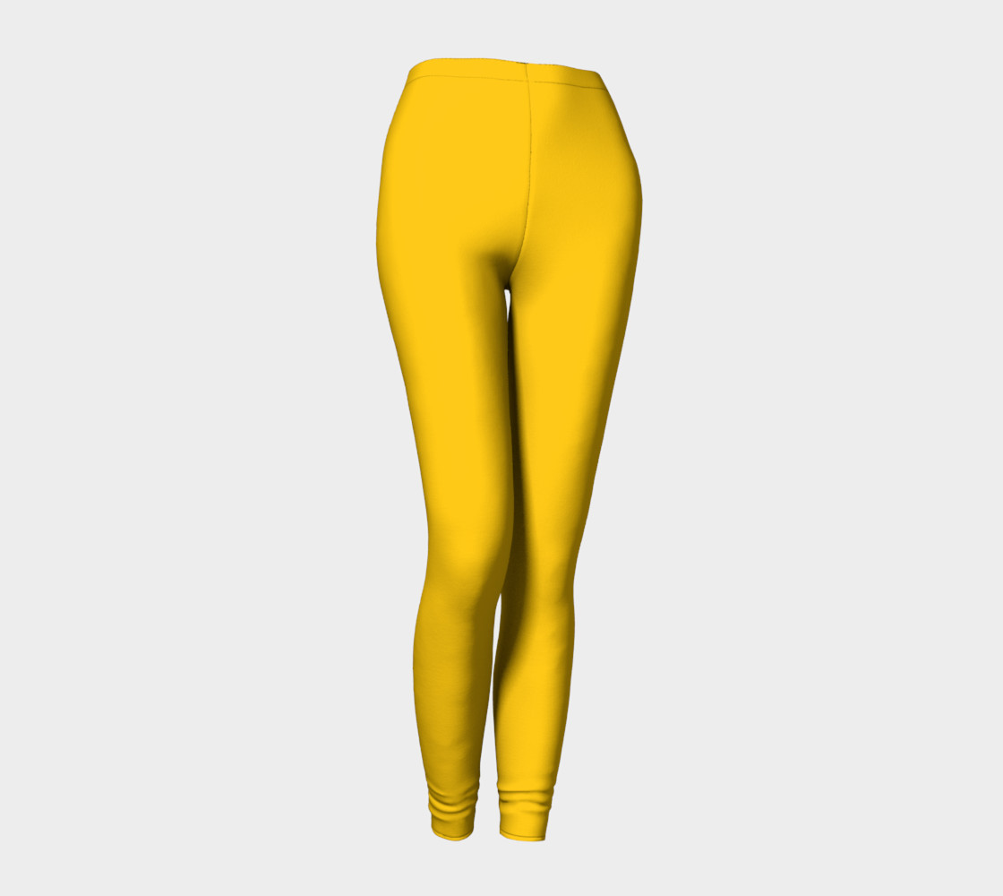 School Bus Yellow Leggings 3D preview