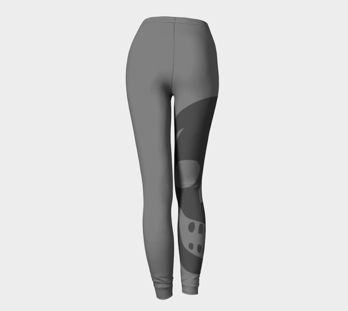 2 Shades of Grey Skull Leggings preview #4