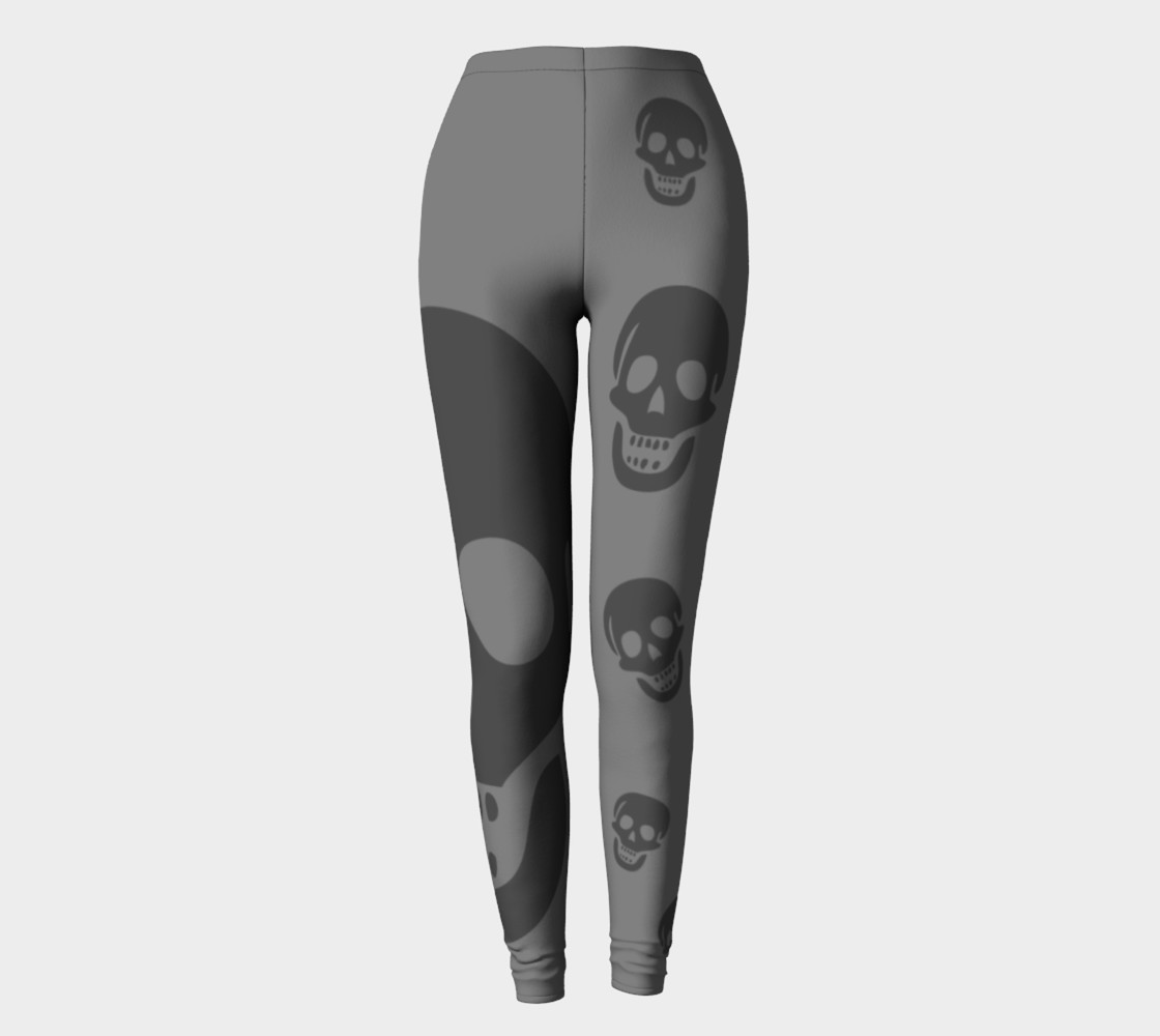 2 Shades of Grey Skull Leggings preview #2