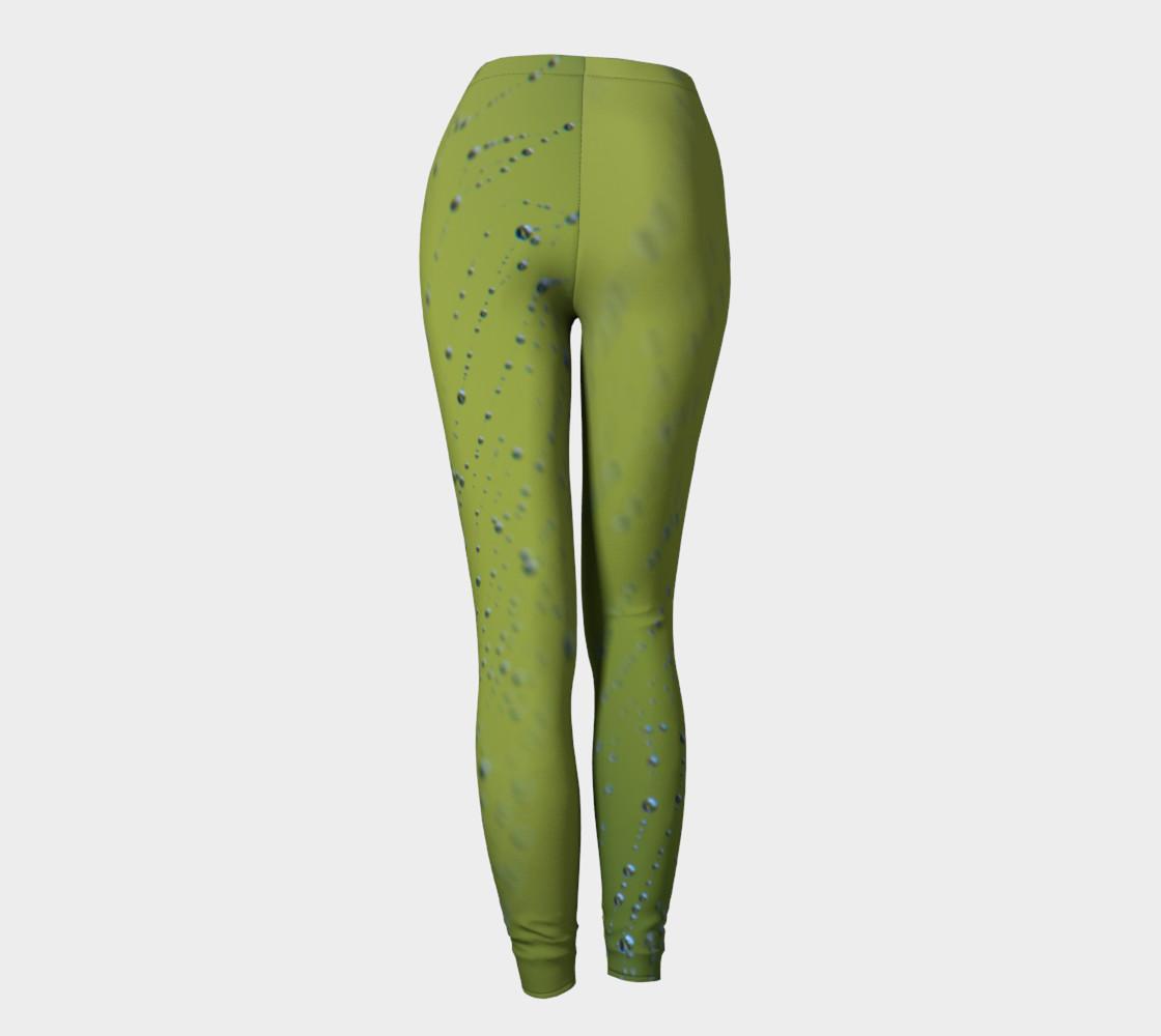 Wet Web Green Leggings preview #4