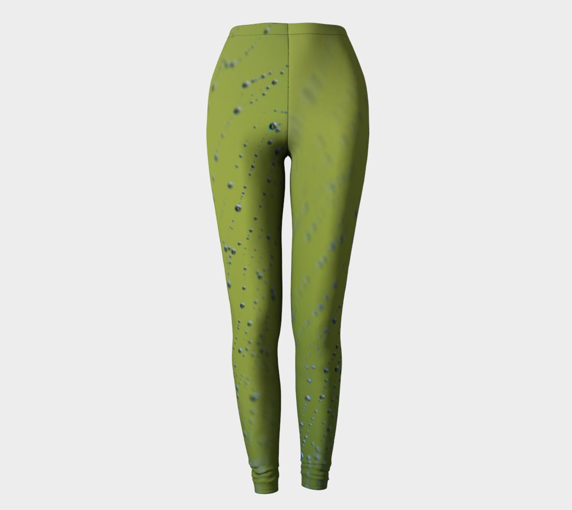 Wet Web Green Leggings preview #2
