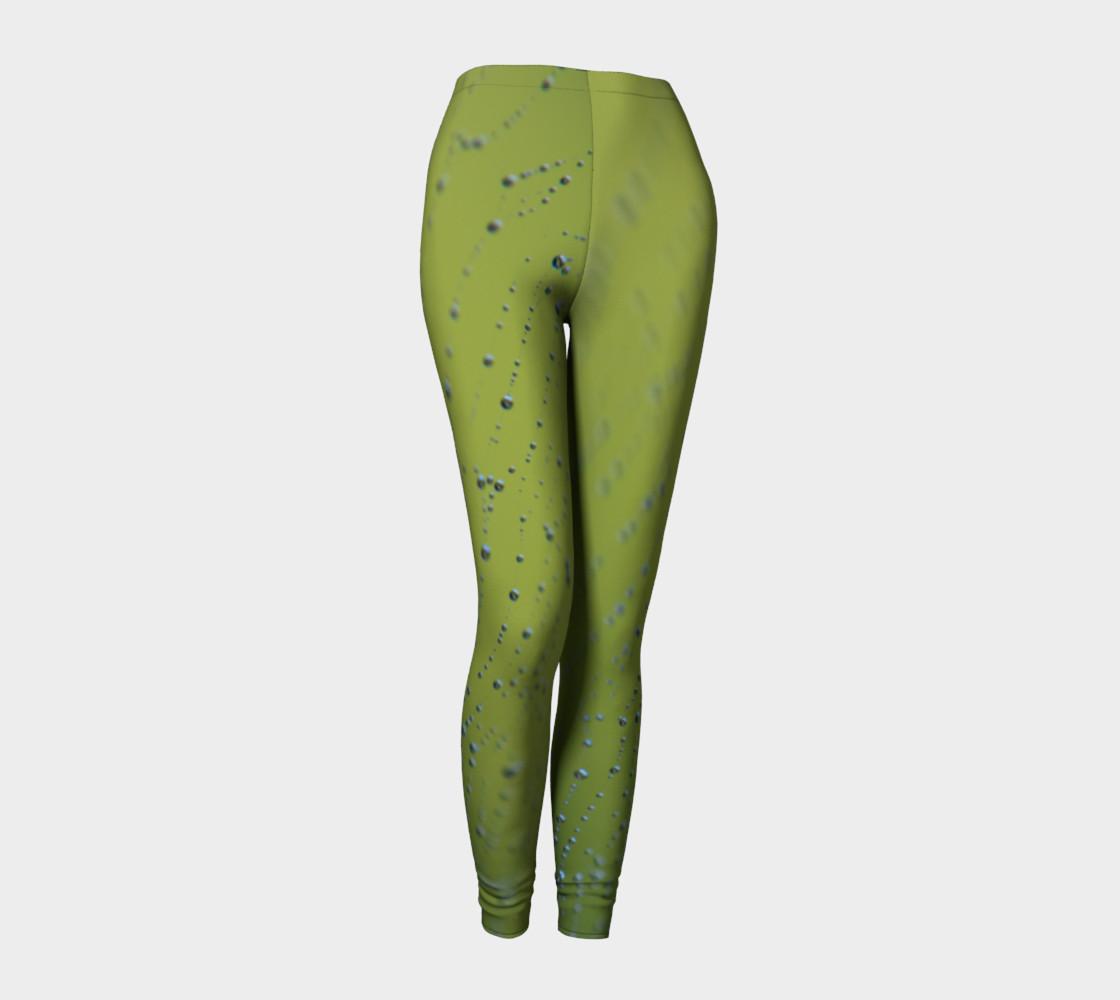 Wet Web Green Leggings preview #1