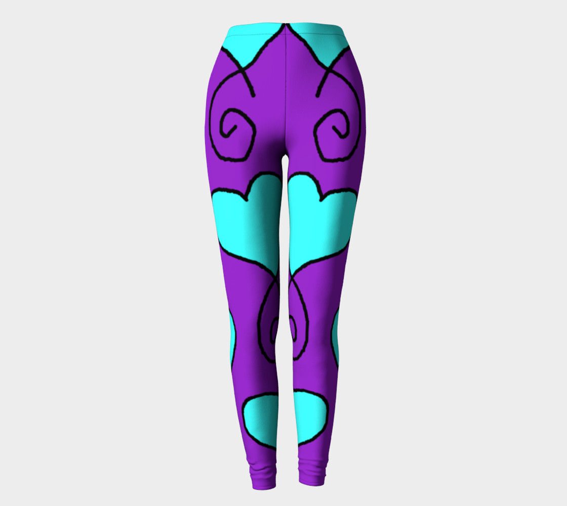 Sue 6 purple and blue hearts leggings preview #2