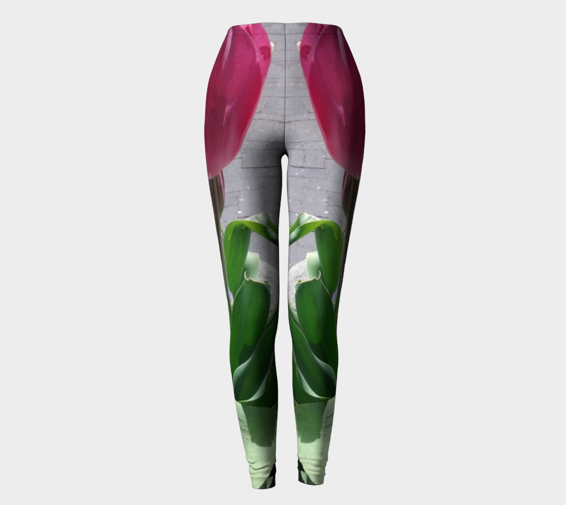 Tulip and Pansy flowers photography leggings preview #2