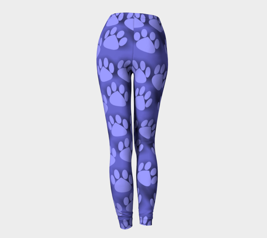 Purple Paw Prints cat dog pet leggings preview #4