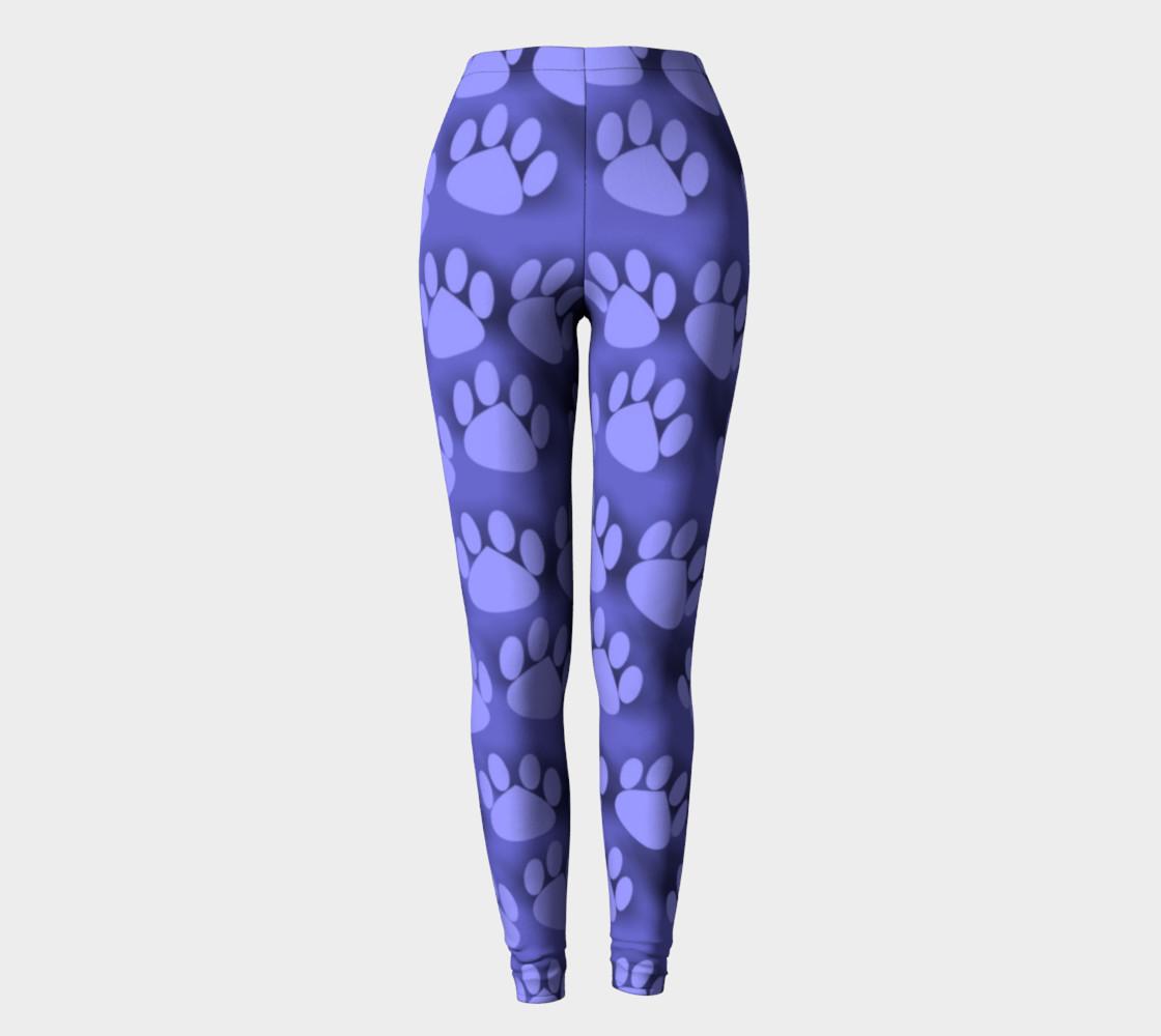 Purple Paw Prints cat dog pet leggings preview #2