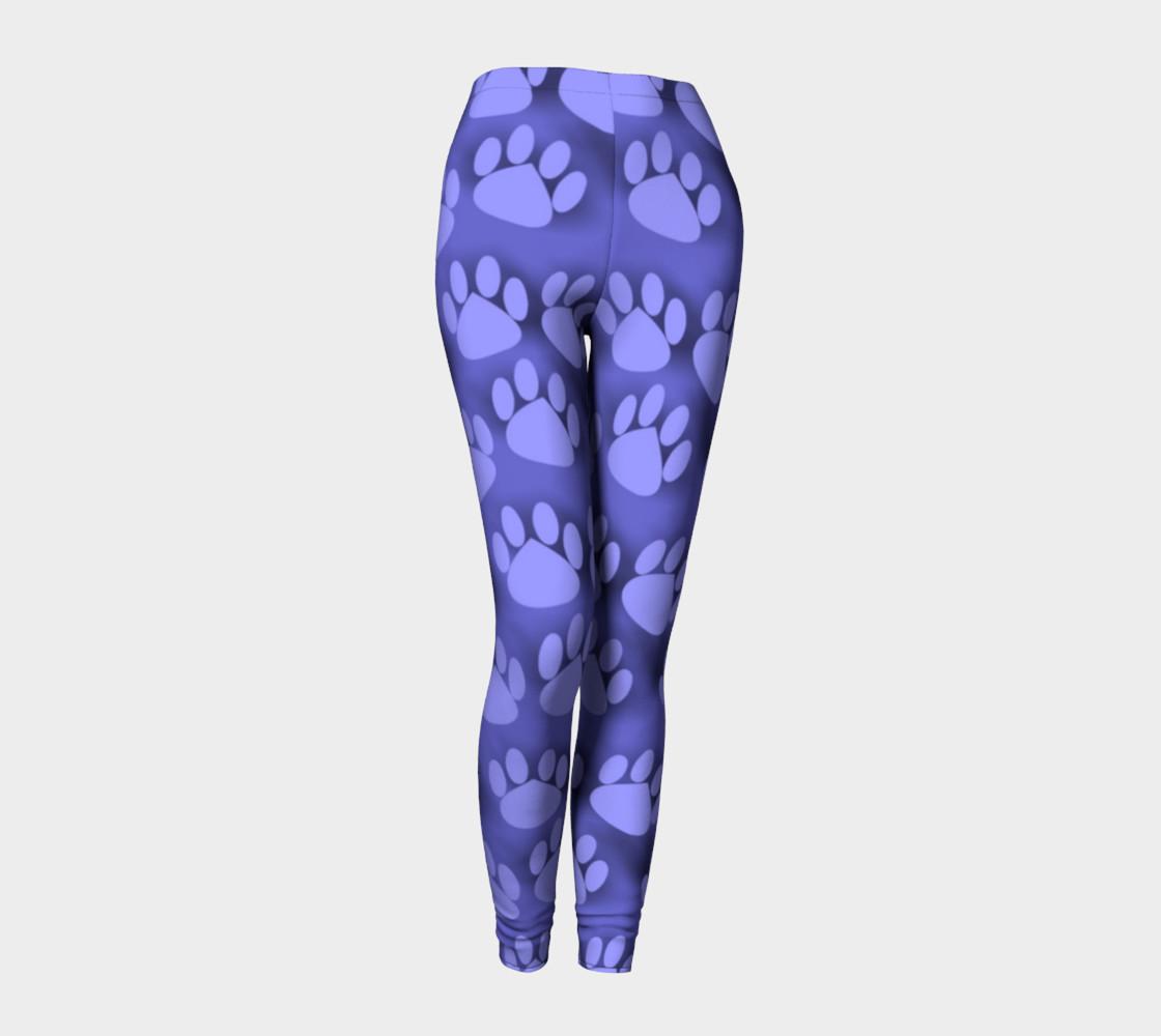 Purple Paw Prints cat dog pet leggings preview #1