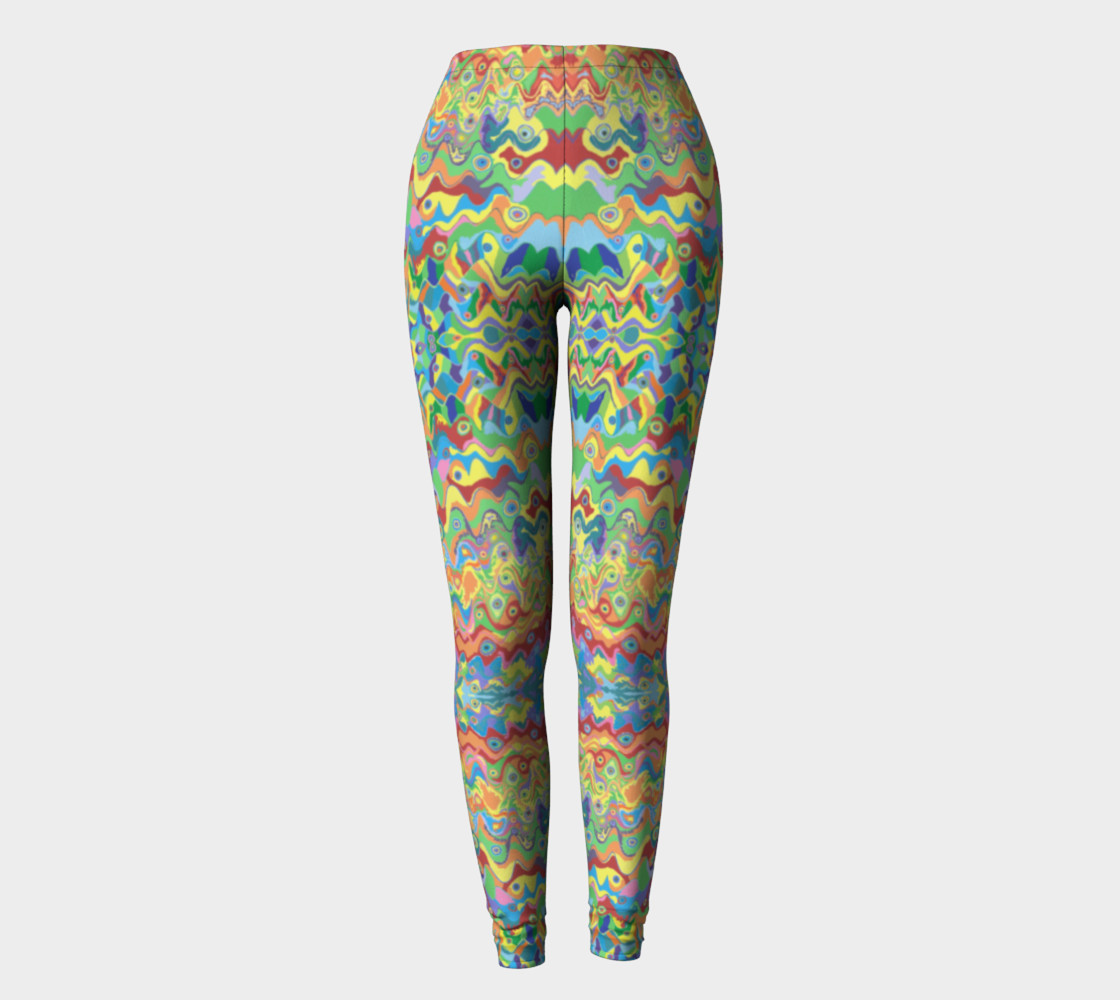 Abstract Hills Pattern Leggings preview #2