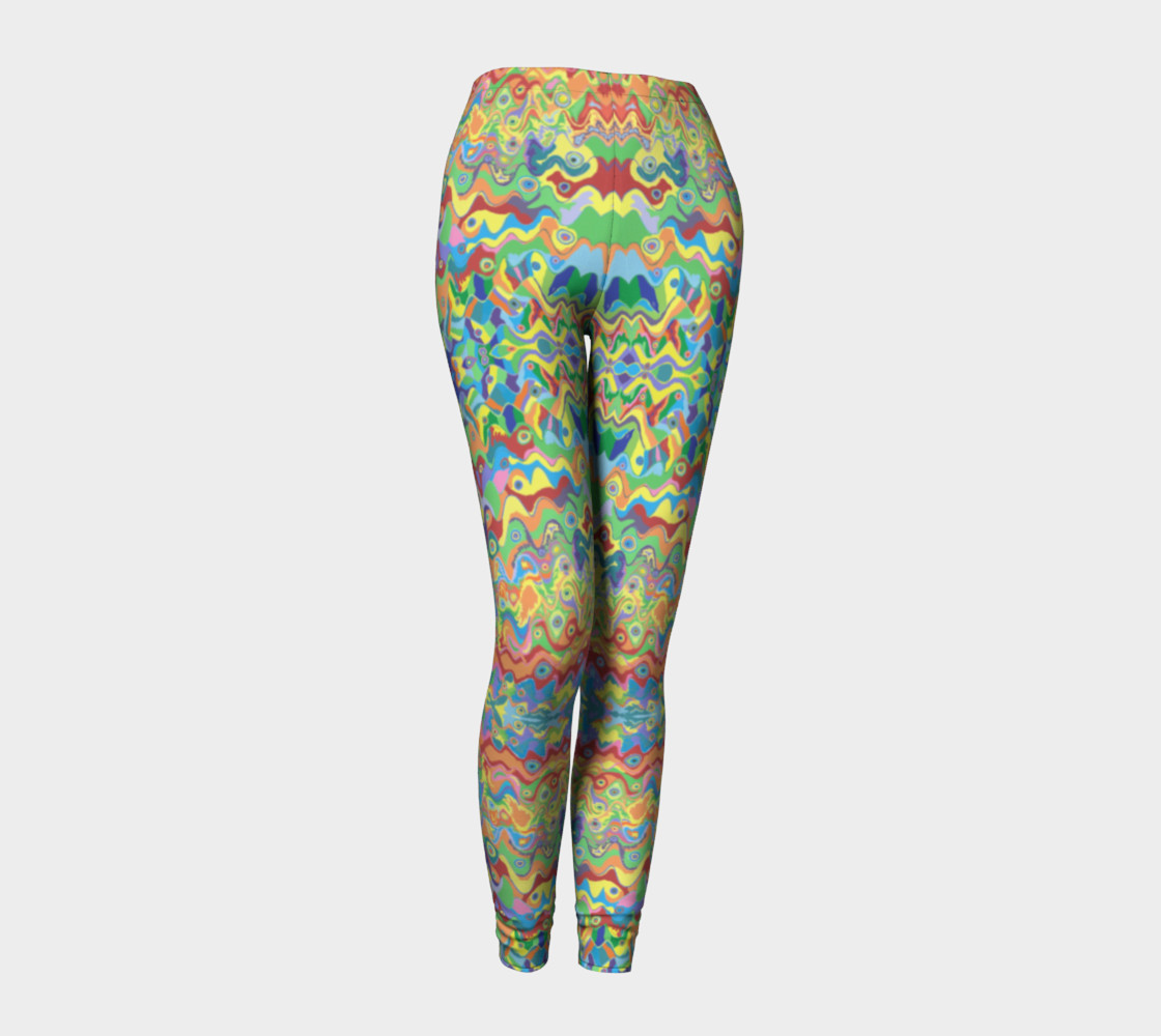 Abstract Hills Pattern Leggings preview #1