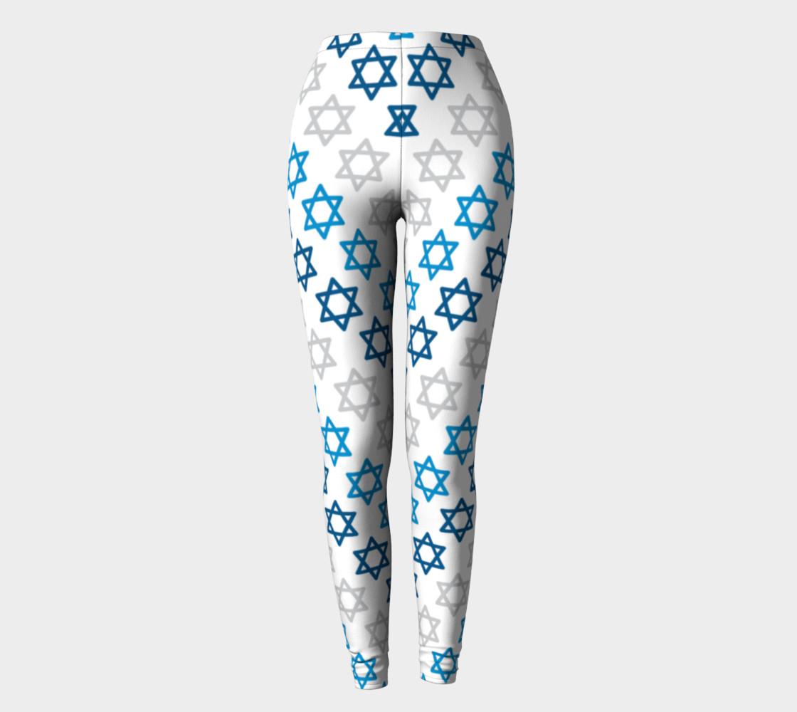 Aperçu de Star of David Hanukkah Leggings #2