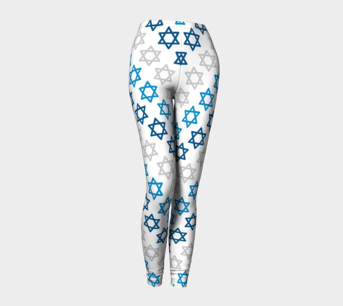 Aperçu de Star of David Hanukkah Leggings #1