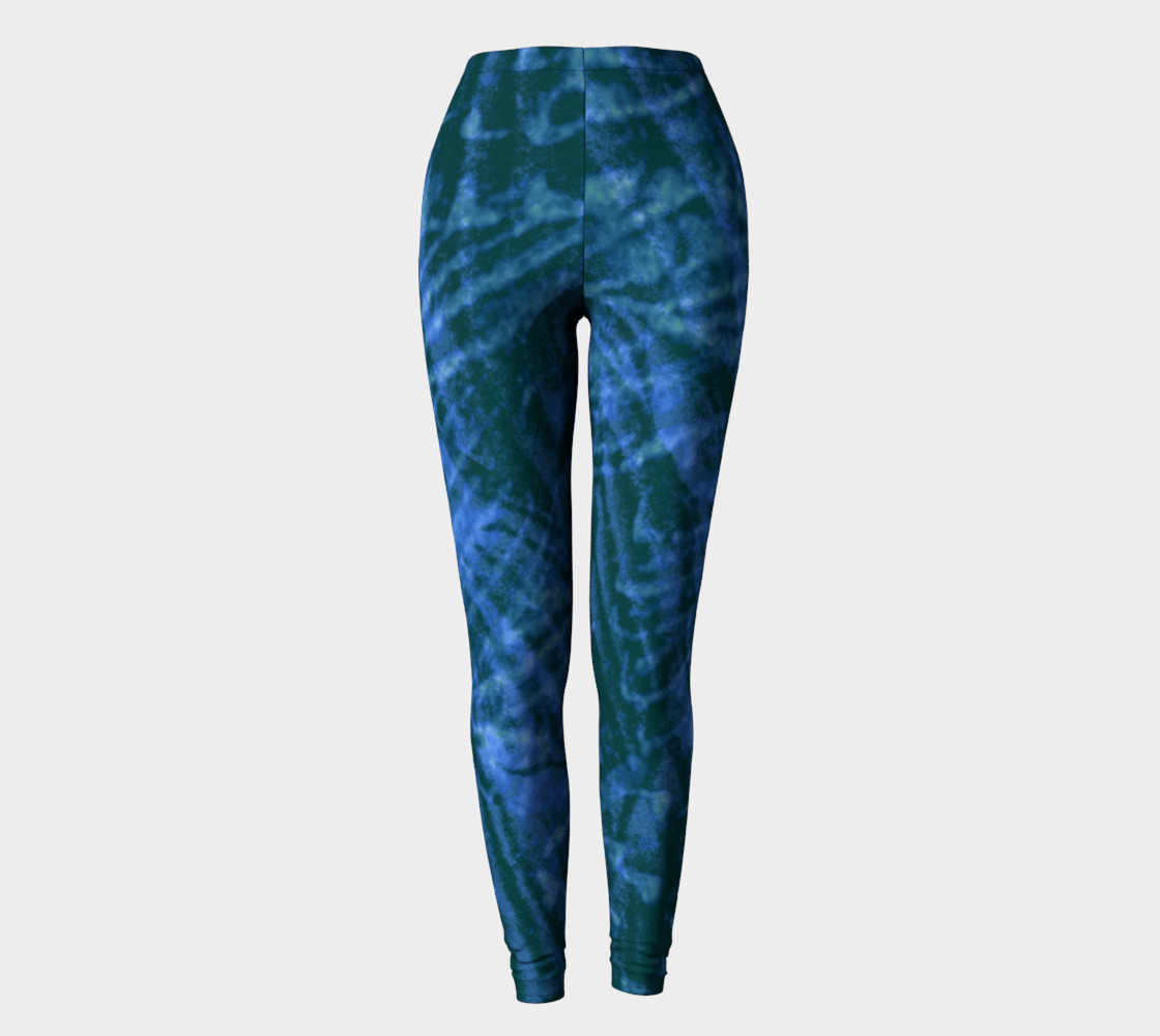 Aperçu de Abstract flight of the blue bird leggings #2