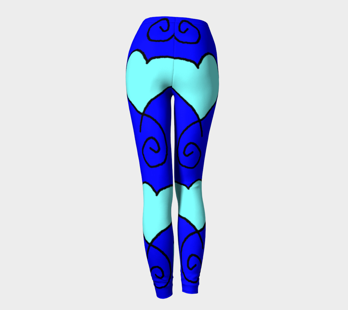 S11 Blue with Light Blue Hearts Leggings TV music funny preview #4