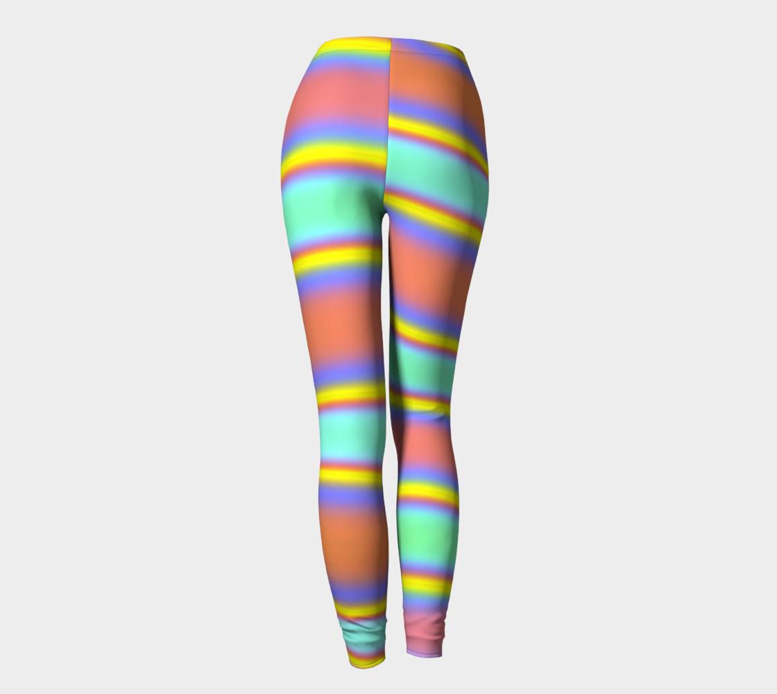 Peach Stripe Leggings preview #4