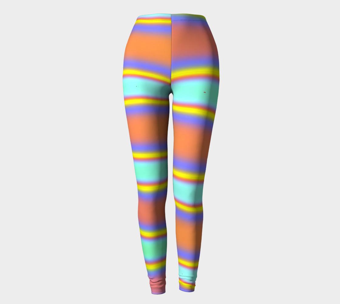 Peach Stripe Leggings preview #2