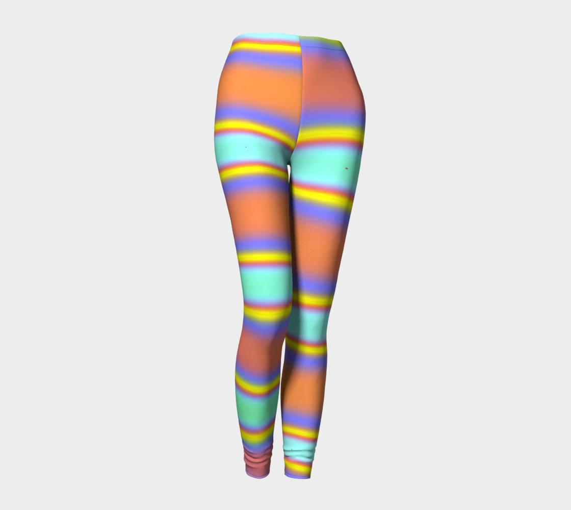 Peach Stripe Leggings preview #1