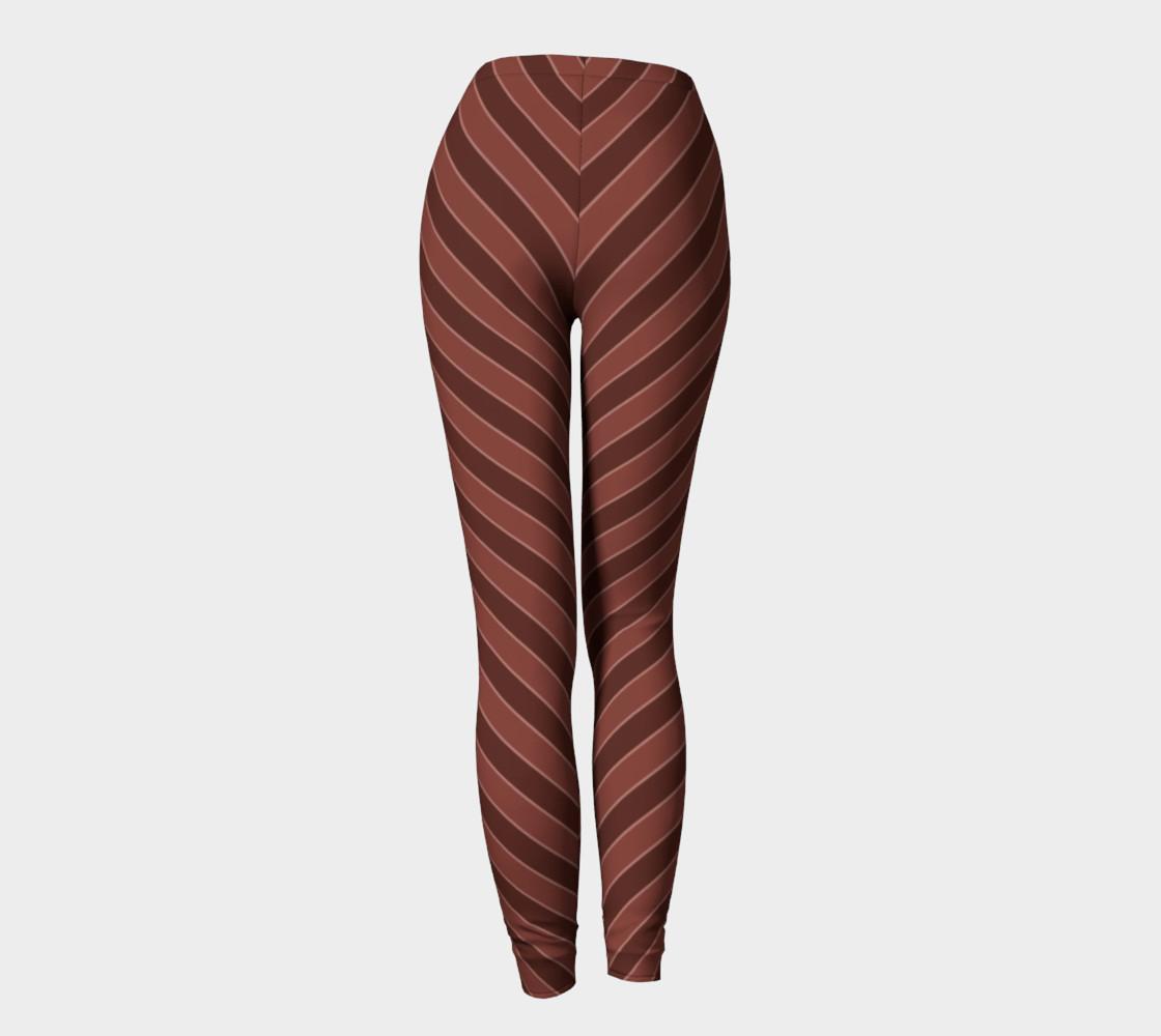 Brown Stripes Leggings preview #4
