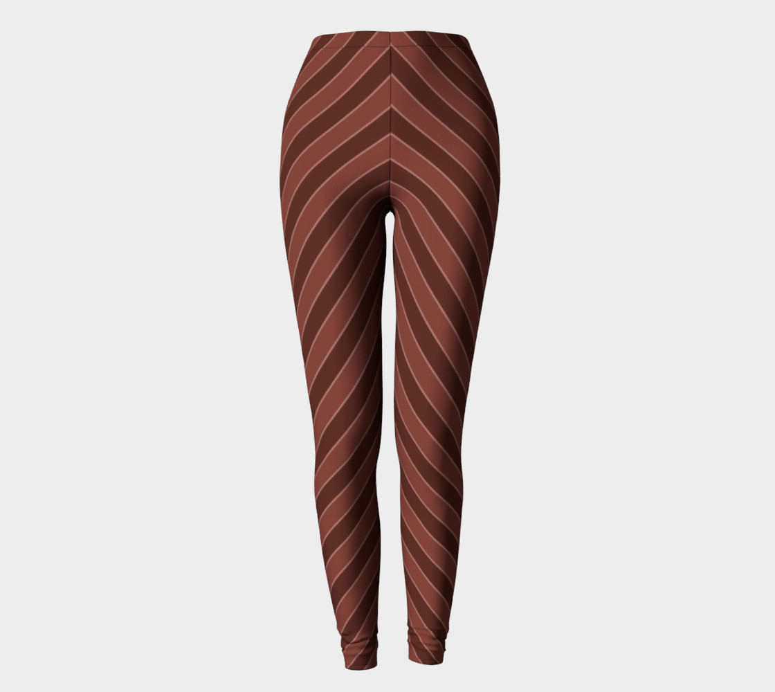 Brown Stripes Leggings preview #2