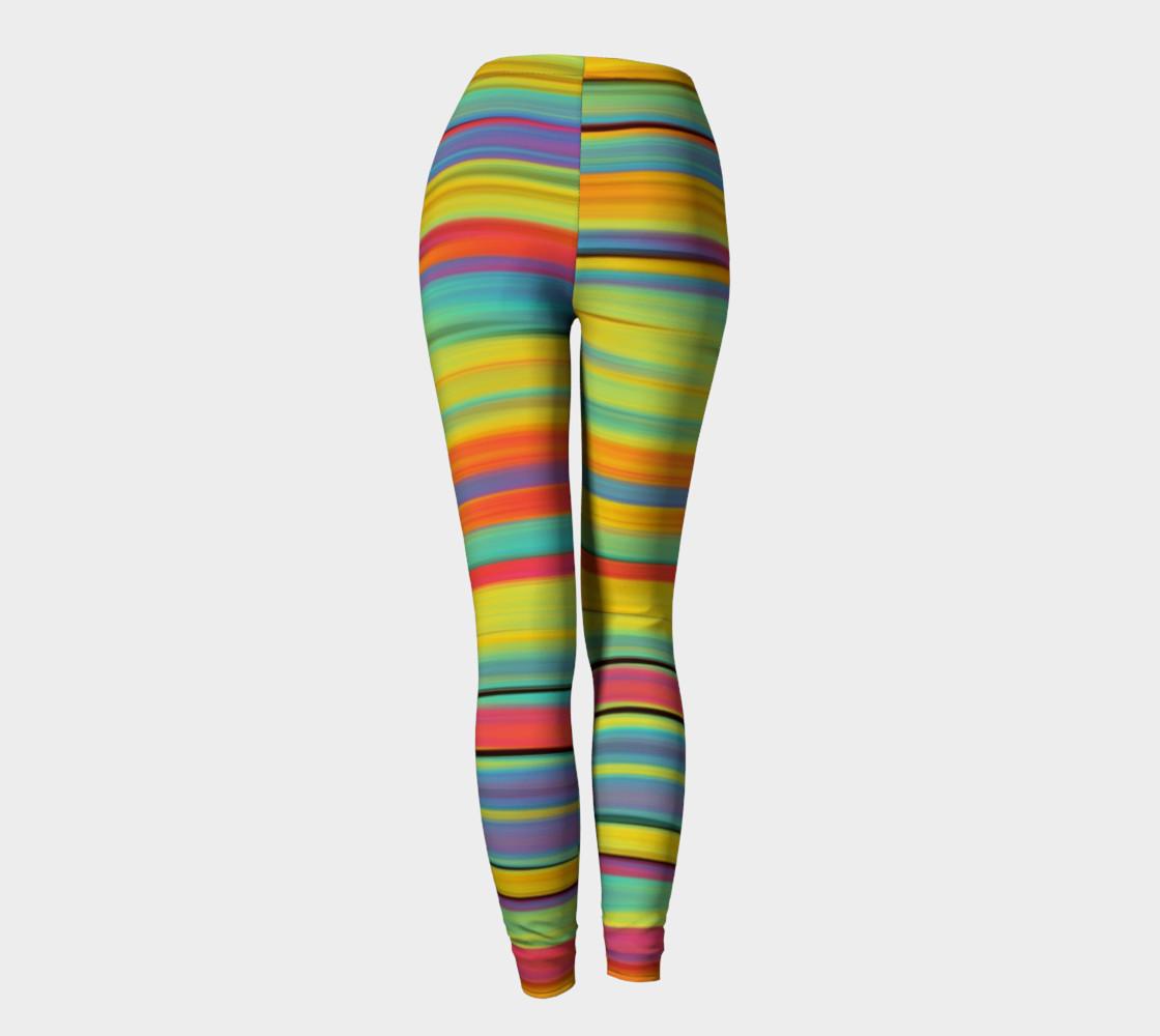 Rainbow Stripes Leggings preview #4